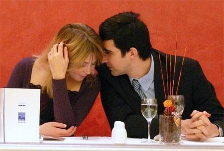 Vladimir Kramnik et Marie-Laure Germon