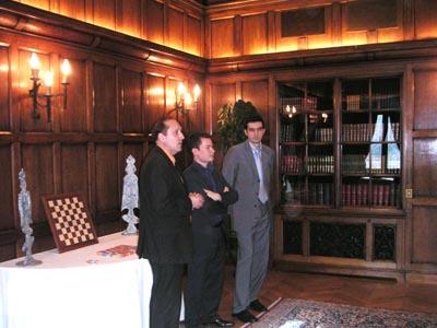Reception de V.Kramnik - Hotel Raphael