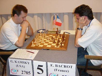 Kamsky - Bacrot à la ronde 1