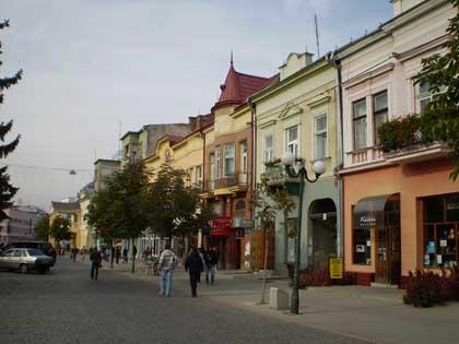 Le centre-ville de Mukachevo